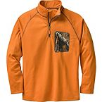 Men's Marksman ¼ Zip Big Game Camo Grid Fleece at Legendary Whitetails