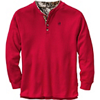 Men's Summit Double Collar Big Game Camo Henley at Legendary Whitetails