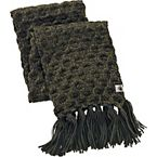 Women's Fusion Knit Green Winter Scarf at Legendary Whitetails