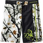 Men's Snow Drifter Big Game Camo Swim Trunks at Legendary Whitetails