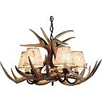 Authentic Whitetail Deer Antler Chandelier at Legendary Whitetails