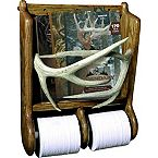 Deer Antler Magazine Rack & TP Holder at Legendary Whitetails