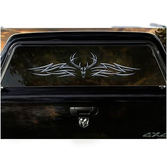 The Outlaw Large Rear Truck Window Decal at Legendary Whitetails