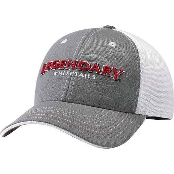 Men's All Pro White Mesh Gray Cap at Legendary Whitetails