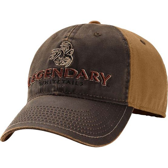 Men's Two-Tone Brown Vintage Buck Cap at Legendary Whitetails