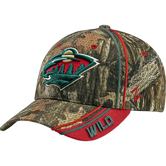 Minnesota Wild Mossy Oak Camo NHL Slash Cap at Legendary Whitetails