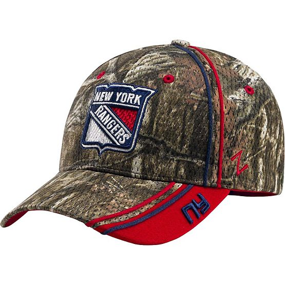 New York Rangers Mossy Oak Camo NHL Slash Cap at Legendary Whitetails
