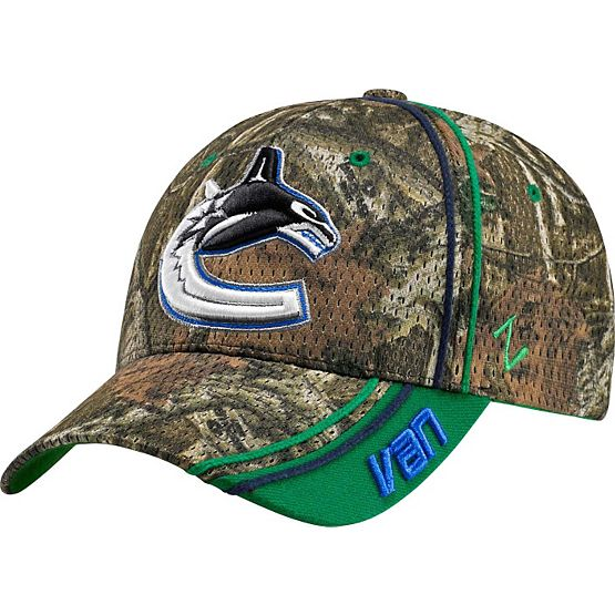 Vancouver Canucks Mossy Oak Camo NHL Slash Cap at Legendary Whitetails
