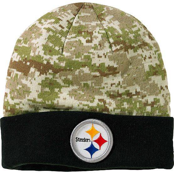 Men's New Era Pittsburgh Steelers Camo Knit Hat at Legendary Whitetails