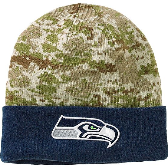 Men's New Era Seattle Seahawks Camo Knit Hat at Legendary Whitetails