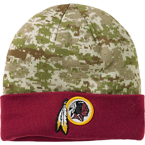 Men's New Era Washington Redskins Camo Knit Hat at Legendary Whitetails