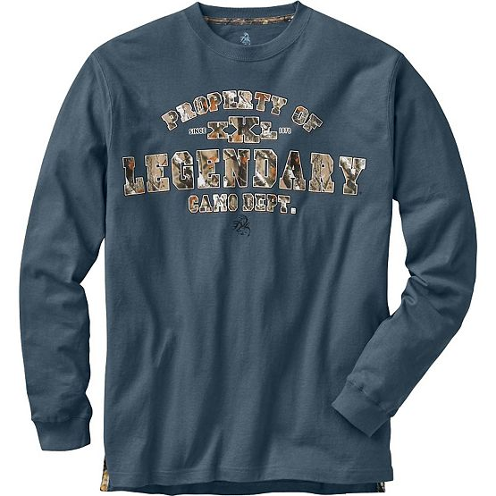 Men's Property Long Sleeve Camo T-Shirt at Legendary Whitetails