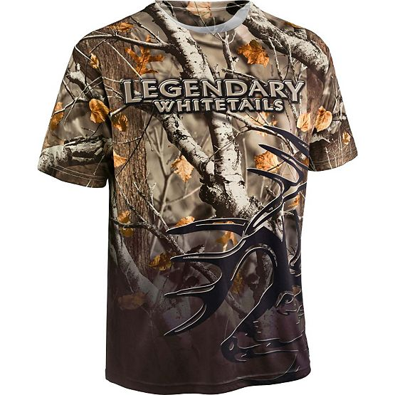 Men's Back Trail Big Game Camo Performance T-Shirt at Legendary Whitetails