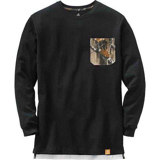 Men's Huntsman Long Sleeve Camo Pocket T-Shirt at Legendary Whitetails