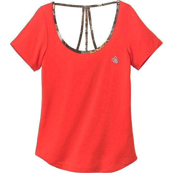 Ladies Sunburst Activewear Short Sleeve Top at Legendary Whitetails