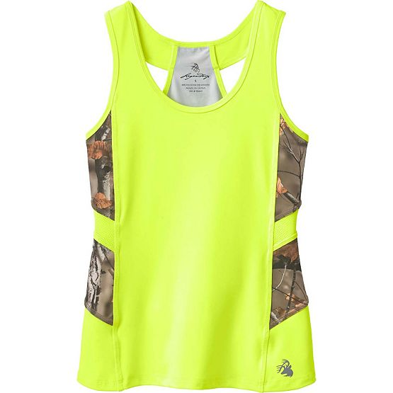 Ladies Broadhead Big Game Camo Performance Tank at Legendary Whitetails
