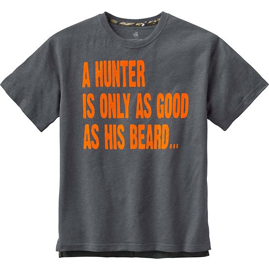 Men's Hunting Beard Short Sleeve T-Shirt at Legendary Whitetails