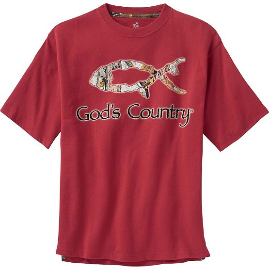 Men's God's Country Camo Harvester T-Shirt at Legendary Whitetails