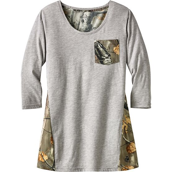 Ladies Escape the Day Big Game Camo Tunic at Legendary Whitetails