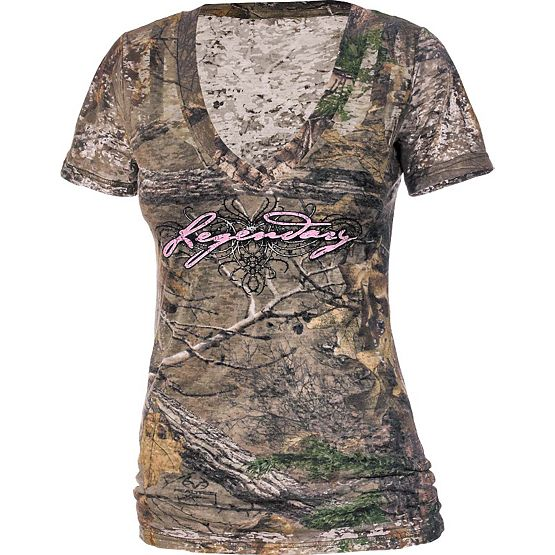 Women's Realtree Camo Remedy Burnout Tee at Legendary Whitetails