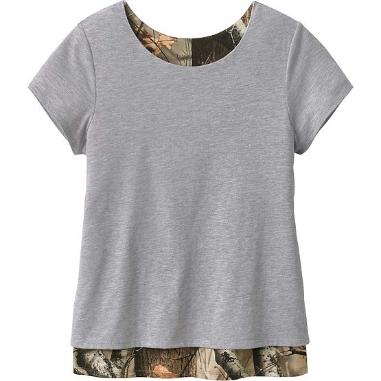 Ladies Melody Petal Back Big Game Camo Top at Legendary Whitetails