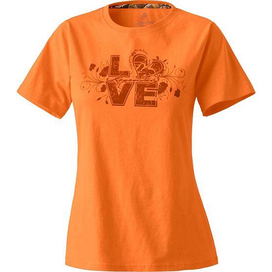 Women's Firecracker Love Orange T-Shirt at Legendary Whitetails