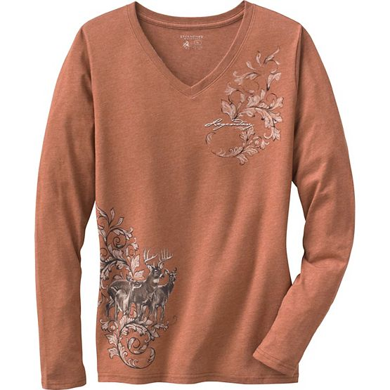 Women's Mystic Legends Long Sleeve V-Neck Shirt at Legendary Whitetails