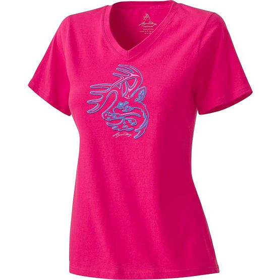 Ladies Electric V-Neck T-Shirt at Legendary Whitetails