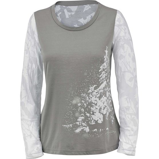 Ladies Trail Edge Big Game Camo Long Sleeve Shirt at Legendary Whitetails