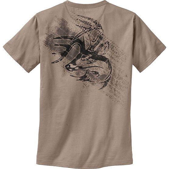 Men's Tire Track Buck Short Sleeve T-Shirt at Legendary Whitetails