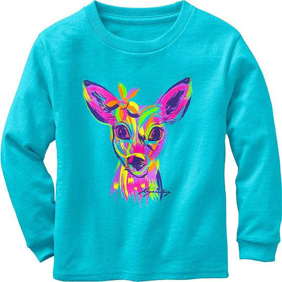 Toddler Girls Radiant Fawn Long Sleeve T-Shirt at Legendary Whitetails