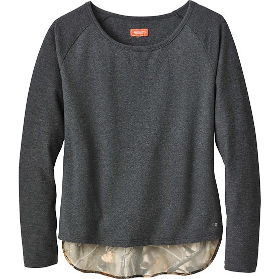 Ladies Hide-n-Seek Big Game Camo Raglan Pullover at Legendary Whitetails