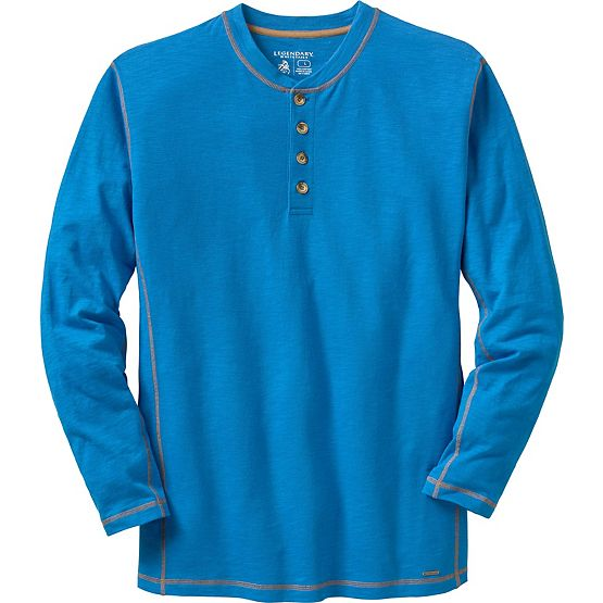Men's Maverick Slub Henley at Legendary Whitetails