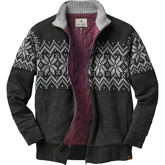 Men's First Frost Full Zip Quilted Sweater at Legendary Whitetails