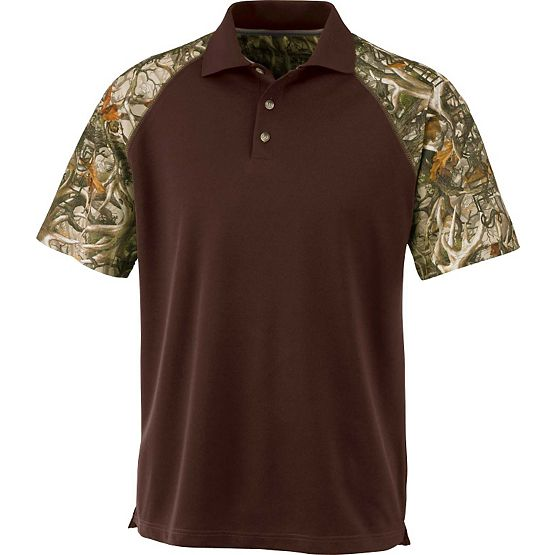 Men's Legends Camo  Short Sleeve Pro Staff Polo at Legendary Whitetails
