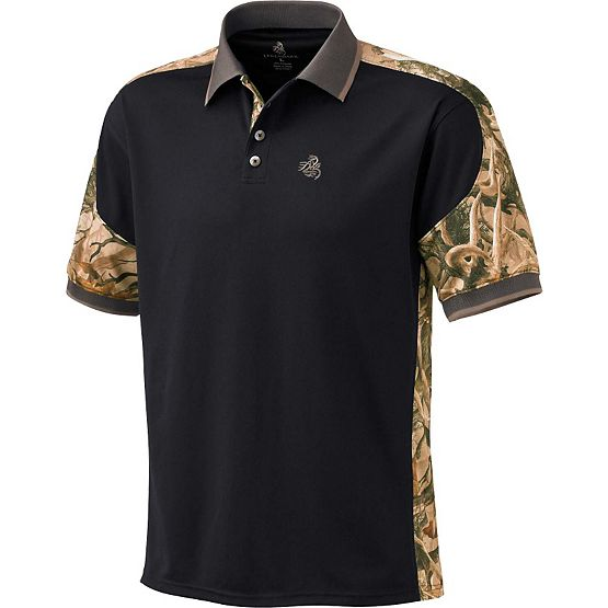 Mens Camo Short Sleeve Pro Hunter Performance Polo at Legendary Whitetails