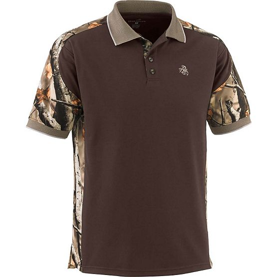 Men's Big Game Camo Pro Hunter Performance Polo at Legendary Whitetails