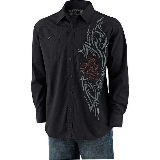 Men's Razor's Edge Slim Button Down Black Shirt at Legendary Whitetails