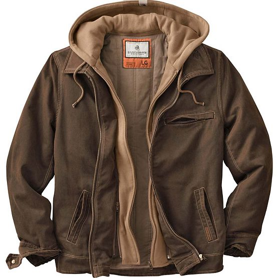 Men's Rugged Brown Full Zip Dakota Jacket at Legendary Whitetails