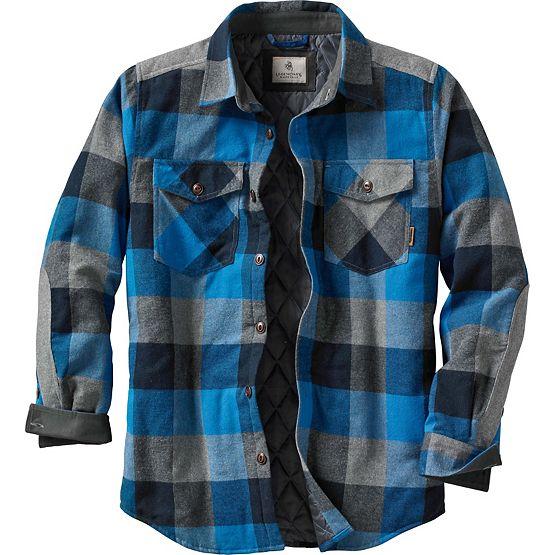 Men's Woodsman Quilted Plaid Shirt Jacket at Legendary Whitetails