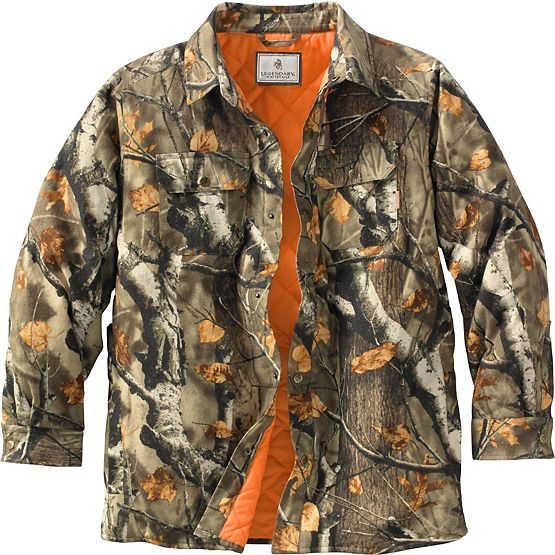 Men's Ridge Runner Big Game Camo Shirt Jac at Legendary Whitetails