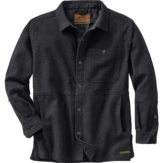 Men's Retreat Long Sleeve Wool Shirt Jacket at Legendary Whitetails