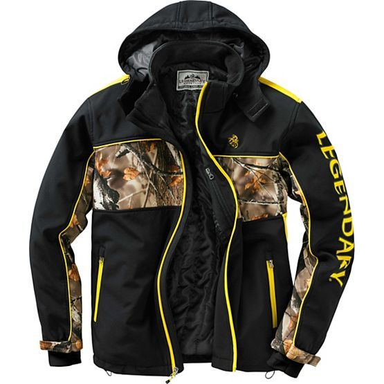 Men's Hunt Bum Trails End Camo Softshell Jacket at Legendary Whitetails