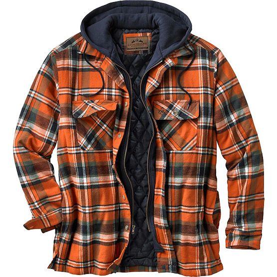 Men's Maplewood Plaid Hooded Shirt Jacket at Legendary Whitetails