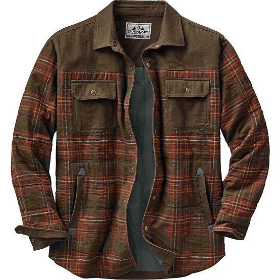 Men's Deep Woods Plaid Shirt Jacket | Legendary Whitetails