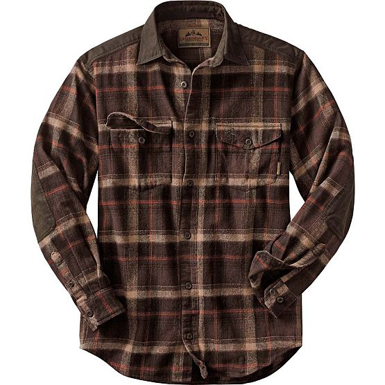 Men's Nightfall Heavyweight Twill Plaid Shirt at Legendary Whitetails