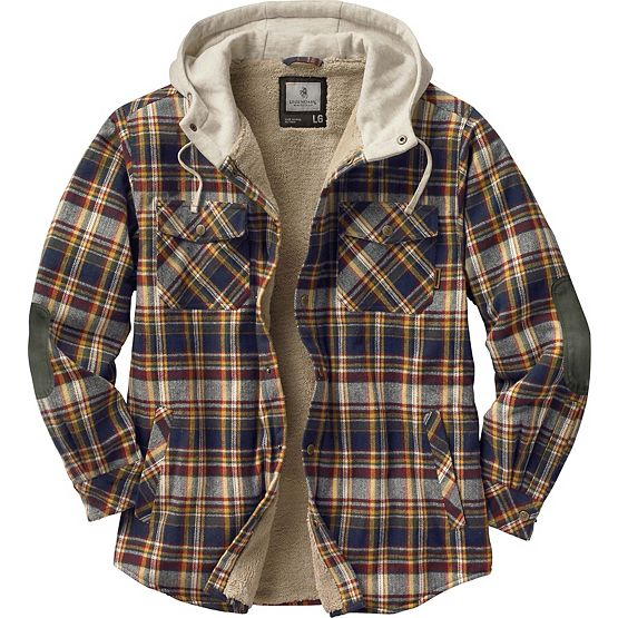 Men's Camp Night Berber Lined Hooded Flannel at Legendary Whitetails