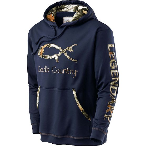 Men's God's Country Camo Poly Hoodie at Legendary Whitetails