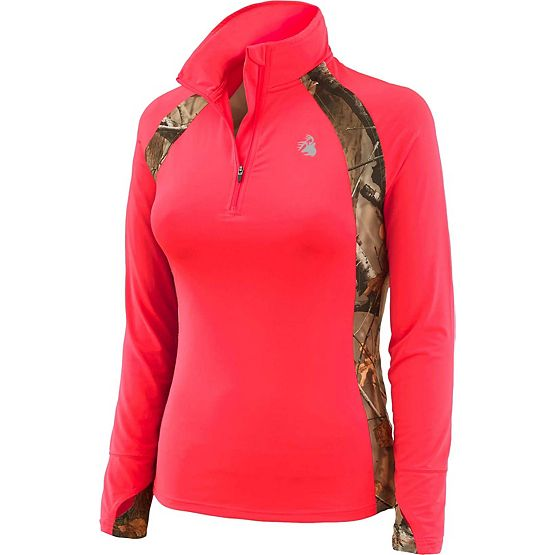 Ladies Intensity Big Game Camo Performance ¼  Zip at Legendary Whitetails