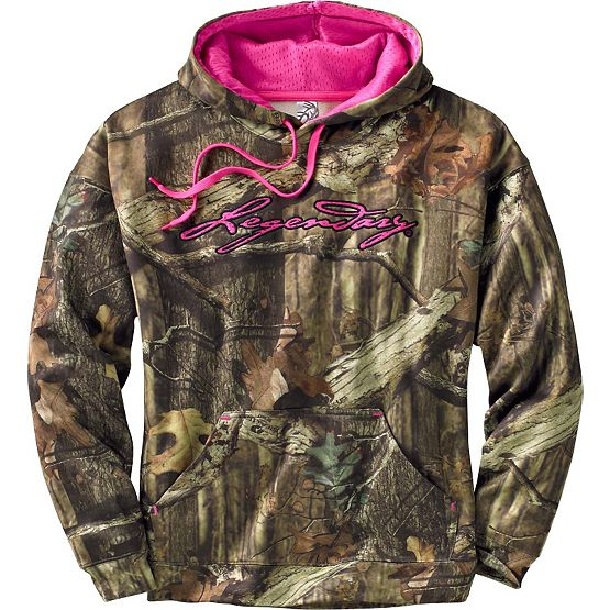 Women's Mossy Oak Camo Impact Performance Hoodie at Legendary Whitetails